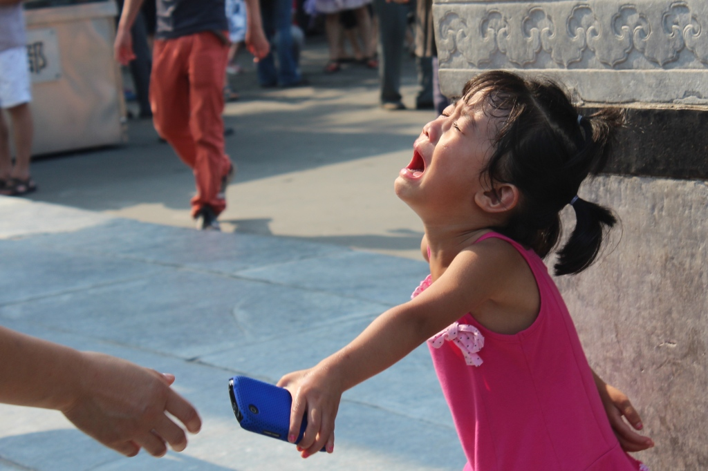 A tantrum I witnessed at the Summer Palace in Beijing