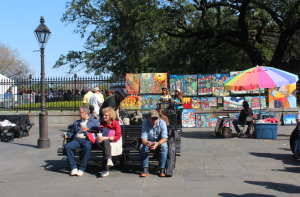 Locals? Tourists? Jackson Square in New Orleans
