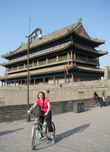 Biking atop the city wall