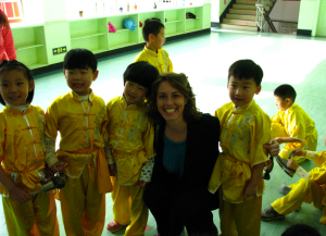 Mrs. Kapeckas with Kung Fu Class