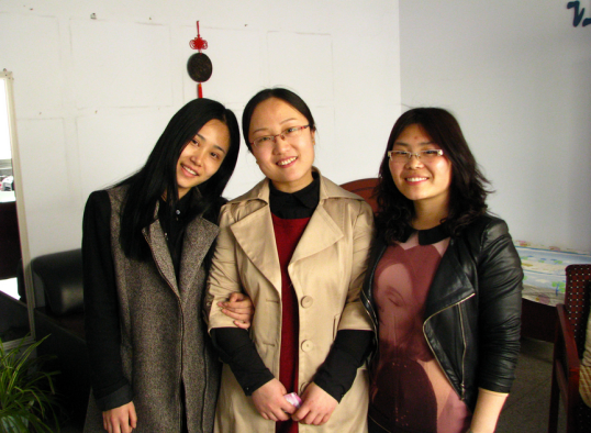 My 3 lifesavers of the trip- English teachers and my interpreters, Qin Tian (Tina), Xiao Juan (Becky), Mi Juan (Monica)