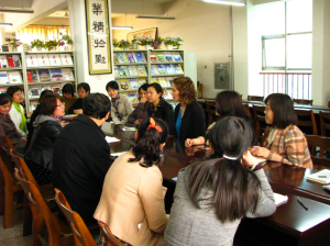Round table discussion with the English department