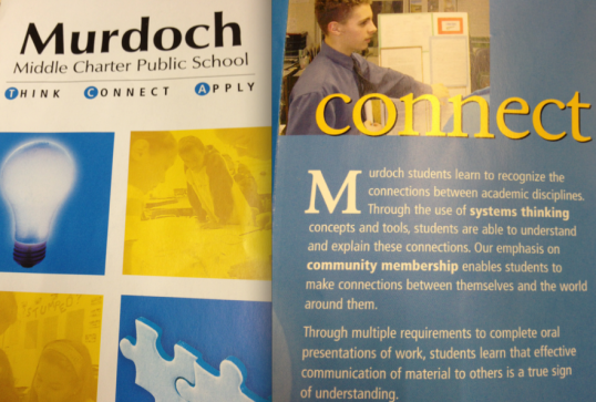 Some parts of an old brochure for Murdoch Middle School (our old name)