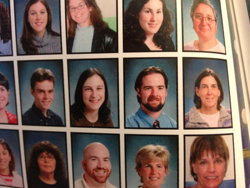 Yearbook teacher photos from my first year at the school