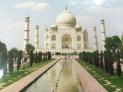 The Taj Mahal in Agra, India, 2001