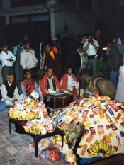 A Buddhist offering in Nepal
