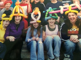 Back in 5th grade (2005), wearing balloon hats, of course.