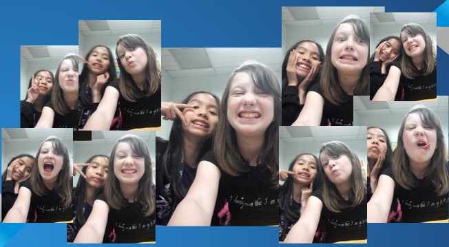 Cassie and Dalena had a lot of fun doing this assignment