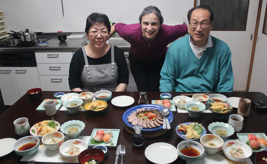 Michiko cooked us the most amazing meal!