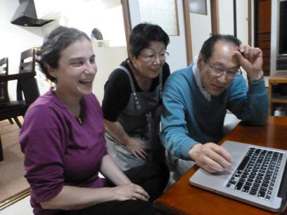 We helped Sakae set up a Facebook account and he was very excited to find his kids on there.