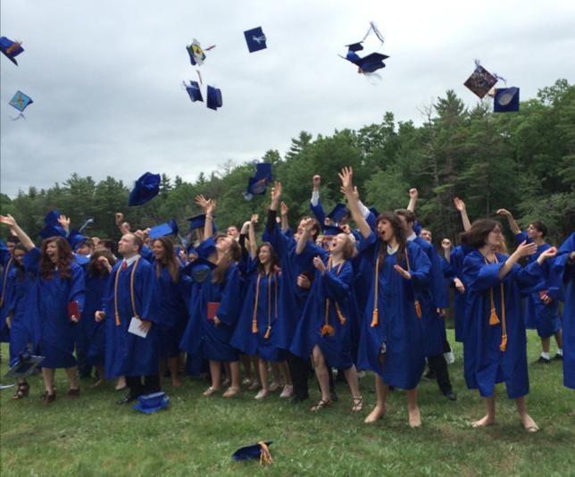 Grads Throwing Hats
