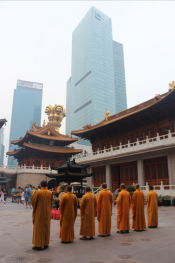 The Jing'an Temple in Shanghai, China, 2012