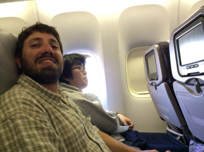 Lucky to get to sit next to fellow participant, Josh