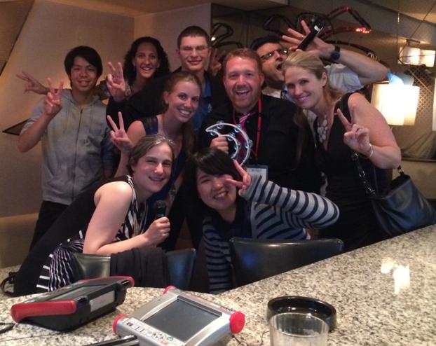 Group at Karaoke