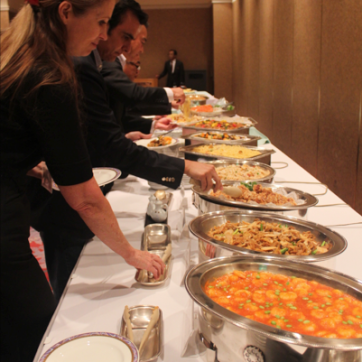 The fabulous buffet at our reception