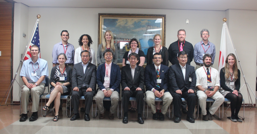 Our group posing with the Kushiro mayor and other city officials