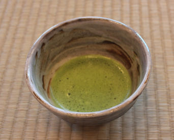 The tea was very bitter and thick, but still tasted like green tea.