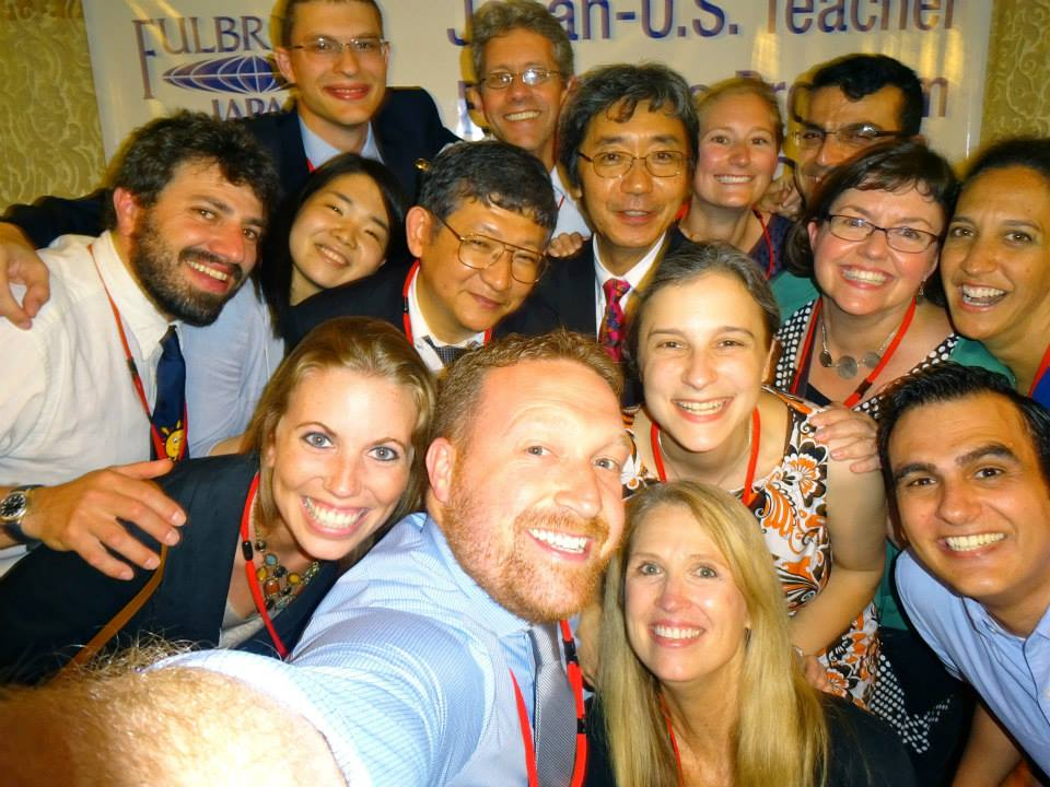 Our Japan group of 15 in one selfie