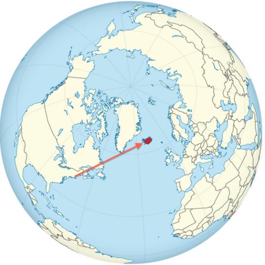 Boston to Iceland