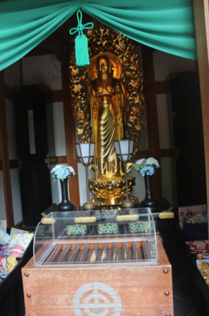 A golden Buddha statue