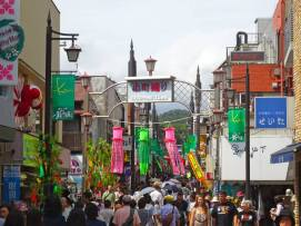 Shopping street in Kamakura