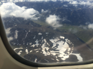 Some interesting terrain of Iceland, taken out my plane window