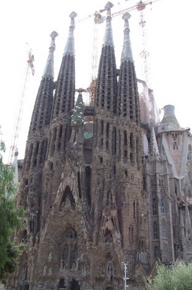 This the Sagrada Familia from a distance. It seems small, but is much much bigger in real life.