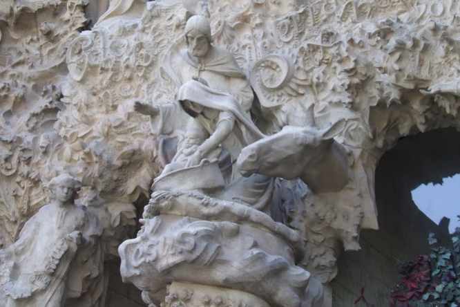 This one of the scenes from the Nativity Facade, with the Holy Family at Jesus's birth.