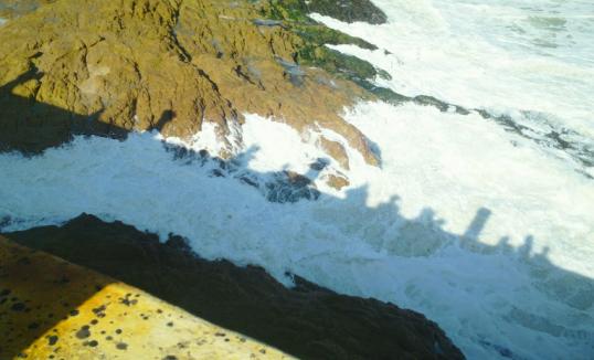Rocks at Cape Coast Castle