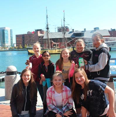 IACS students with ship