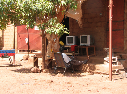 "An ""arcade"" around the corner from where I stayed in 2007, in the town of Kati, in Mali (West Africa)"