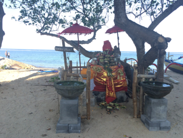 A beach shrine