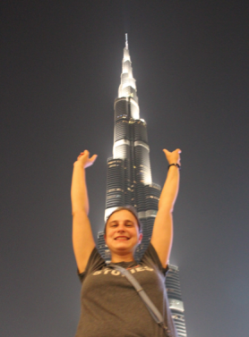 Me and the tallest building in the world!