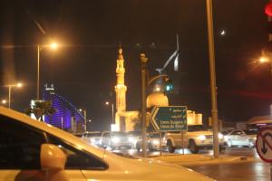 Driving around Dubai