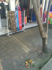 In front of a shopping stall