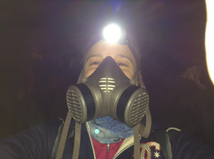 Gas Mask and Head Lamp