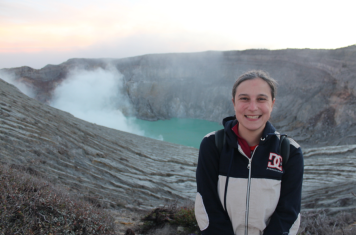 Me in front of the crater