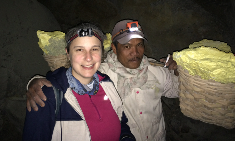 Sara with Miner