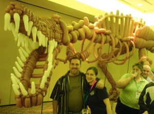 Me and Mark with one of his award winning dinosaurs