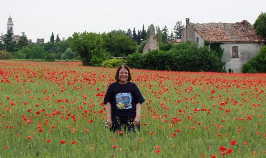 Mom in Poppies