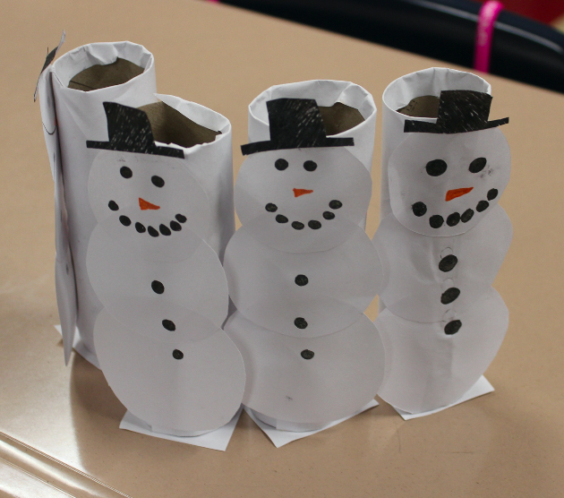 Snowmen pencil holders