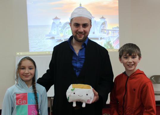 Imam with Tofu-San