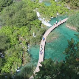 Famous view at Plitvice Lakes. Ok, it's gorgeous!