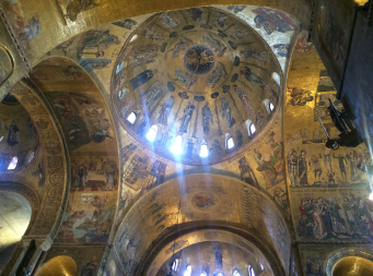 St. Mark's Basilica, from the inside. There was a brass band playing music too!