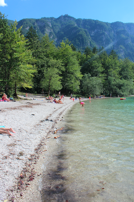 Tourists at Bohinj