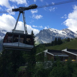 Cable car into the mountains