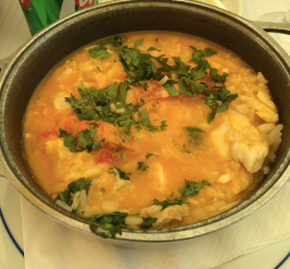 Fish prawn stew in Lisbon
