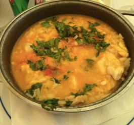 Fish prawn stew in Lisbon