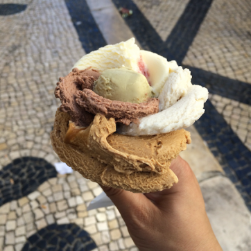 Gelato - as many flavors as you wanted!