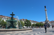 Fountain in Lisbon Center